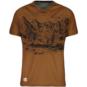 Maloja SerlasM. Shortsleeve Multisport Jersey Men walnut